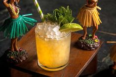 Mix up these eight classic tiki cocktail recipes collected from the best bars and spirits brands across the country, including a Zombie, Mai Tai, Jet Pilot, and more. Cocktail Mixers, Tiki Cocktail, Cocktail Recipes, Drink Recipes, Bar Drinks, Yummy Drinks, Beverages, Cherry Liqueur, Recipes