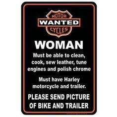 Have s great weekend harley davidson motorcycles pinterest harley woman wanted harley davidson sign quote voltagebd Choice Image