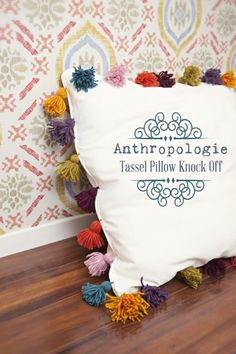 anthro tassel pillow knockoff