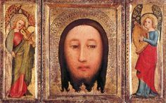Master Bertram Triptych: The Holy Visage of Christ  1395-1410 Oil on panel, 31 x 24 cm (central), 31 x 12 cm (each ewing) Museo Thyssen-Bornemisza, Madrid  Master Bertram is one of the first artists in the history of German art who is known to us by name. His style exercised a major influence on the Hamburg school of painters. His work exemplifies the artistic position of German painting around the beginning of the 15th century, in which medieval traditions continued to live on