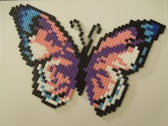 Butterfly hama perler beads by Cristina Arribas