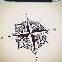 Photos tattoo boussole dessin