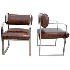 EEL Skin covered Chairs, WOW! Eel skin feels like no other leather on earth, it is soft and supple.