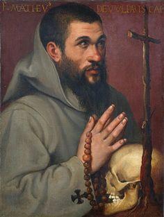 Portrait of the capuchin friar Matteo dei Volpari by Bartolomeo Passarotti