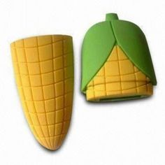 Soft Rubber Corn-shaped USB Flash Drive for Promotional Gift