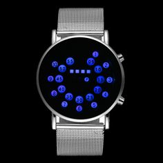 2016 Hot Sale Fashion Binary Watch Men Watch Full Steel Digital Watches Popular LED Watch Hour relogio masculino reloj hombre #>=#>=#>=#>=#> Click on the pin to check out discount price, color, size, shipping, etc. Save and like it!