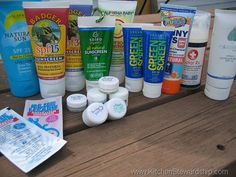 Reviews of mineral (not chemical) based sunscreens. tons of great info, but long read.