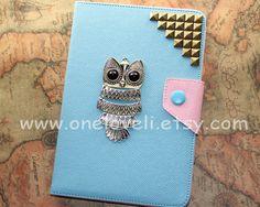 Antique Bronze studs ipad mini casevintage owl ipad by OneLoveLi