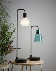 Drip/Drop by seduces you from a distance and make you want to get closer. Their difference is in the shade: Drip has straight lines, Drop has a rounded silhouette Lighting System, Lighting Design, Desktop Lamp, Find Furniture, Lamp Shades, Floor Lamp, Home Furnishings, Wall Lights, Straight Lines