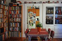 Dining room slash library - my favorite combo to get the most out of a room