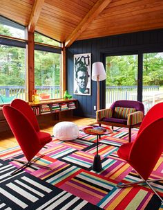 The amazing upstate NY home of Bradford Shellhammer, co-founder and creative director of Fab, can be seen in the new BRIGHT.BAZAAR BOOK! http://www.amazon.com/Bright-Bazaar-Embracing-Color-Make-You-Smile/dp/1250042011/
