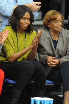 First Lady Michelle Obama with her Mother Mrs. Marian Robinson Princeton v American - 2014