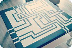 Table basse customisation unique #déco #art