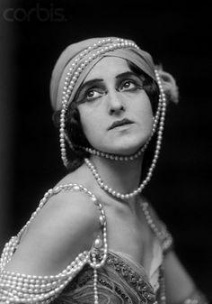 ca. 1920 — Portrait of Ballerina Vera Fokina — Image by © E.O. Hoppé/CORBIS