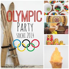 Olympic Party: Sochi 2014-host a fun and simple Olympic party with your friends and family! Includes meal ideas (from Russia), games, and a printable. Could be a fun youth activity or FHE! www.lets-get-together.com #olympics #sochi #party