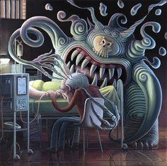 Hasta luego…  Acrílico sobre tela / 2013 35 x 35 cm  see you later... Acrylic on canvas / 2013  35 x 35 cm Mark Ryden, Dreams And Nightmares, Lowbrow Art, High Art, Pop Surrealism, Weird Art, Surreal Art, Contemporary Art, Creatures