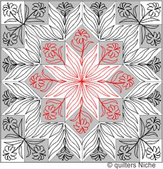 Miniature Carpenter's Star quilting design from Quilters Niche