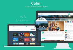 """Calm"" Flat Windows 8 Style 2 Page Website PSD - http://www.welovesolo.com/calm-flat-windows-8-style-2-page-website-psd/"