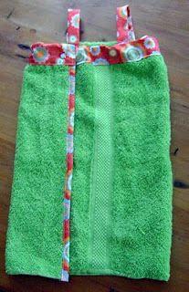 DIY Towel Wrap/Dress Tutorial
