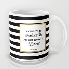 Buy Coco Gold Irreplaceable Fashion Quote by Poppy loves to groove as a high quality Mug. Worldwide shipping available at Society6.com. Just one of…