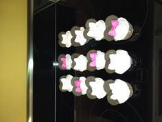 Minnie Mouse cupcakes made for Karlie's birthday party!