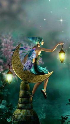Pin by Kelsey Johnson on Art t Fairy Illustrations and Elfen Fantasy, Fantasy Art, Fairy Land, Fairy Tales, Fairy Wallpaper, Unicorn And Fairies, Moon Fairy, Fairy Pictures, Beautiful Fairies
