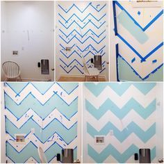 Super Easy Chevron Wall Tutorial! [from new blog OurRhodesToHappiness]