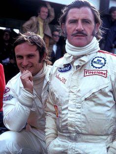 Graham Hill and Chris Amon