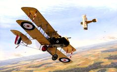 The legendary circling duel between Lanoe Hawker and Manfred von Richthofen- 1. Hector, by Russell Smith (Airco DH2)