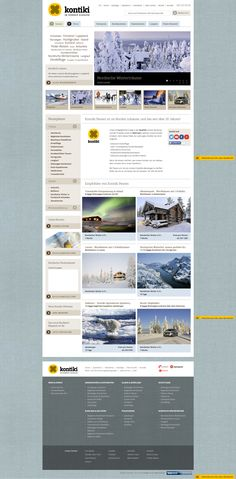 Kontiki, winter home page