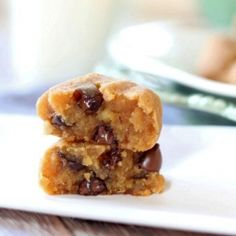Healthy, easy protein peanut butter chocolate chip cookie dough balls with a secret ingredient! Gluten free and vegan!