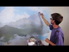 "Clip from ""How To Paint Mountains"" with Mural Joe - YouTube"