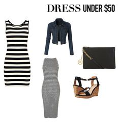 """""""Untitled #23"""" by amyover ❤ liked on Polyvore featuring Armani Jeans, MICHAEL Michael Kors, LE3NO and Dressunder50"""