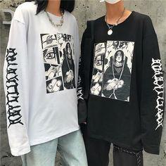 Naruto anime t-shirt Edgy Outfits, Anime Outfits, Mode Outfits, Cute Casual Outfits, Grunge Outfits, Fashion Outfits, Mode Streetwear, Streetwear Fashion, Mode Harajuku