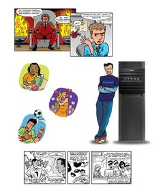 Comic book and cartoon style illustrations for various clients Cartoon Styles, Nerd, Comic Books, Baseball Cards, Comics, Infographics, Illustrations, Infographic, Illustration