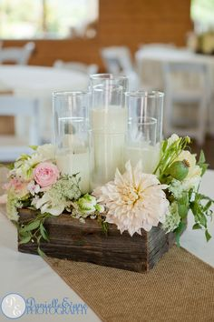 A Summer Celebration Photo by Danielle Evans, Design by Whimsical Gatherings Flower Centerpieces, Table Centerpieces, Wedding Centerpieces, Wedding Table, Diy Wedding, Rustic Wedding, Wedding Decorations, Table Decorations, Wedding Ideas