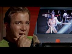 Captain Kirk watches Miley Cyrus performance