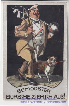 """Studentika Bemooster """" Bursch Zieh ICH AUS 1910   eBay"""