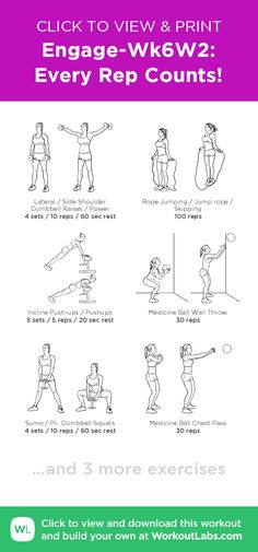 Engage-Wk6W2: Every Rep Counts! – click to view and print this illustrated exercise plan created with #WorkoutLabsFit