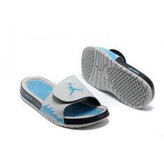 6610feae7ec97 Mens Nike Jordan Hydro 5 Slippers White Blue Black Cheap Jordans