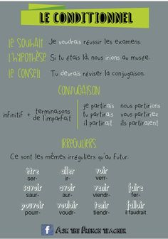 le conditionnel http://apprendrefrancais.net/les-difficultes-du-francais/conditionnel-et-phrase-hypothetique.html