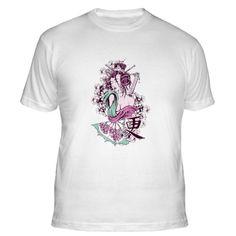 Geisha Girl Samurai with Sword - Fitted T-Shirt at http://ilovethisstuff.net $18.99