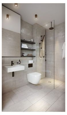 Browse photos of Small Master Bathroom Tile Design. Find a few ideas and inspiration for Small Bathroom Tile Design to enhance your own home. Bathroom Tile Designs, Bathroom Layout, Modern Bathroom Design, Bathroom Interior Design, Bathroom Ideas, Bathroom Organization, Bathroom Storage, Tile Layout, Bathroom Inspiration