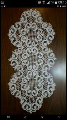 Crochet Table Runner Pattern, Crochet Placemats, Crochet Doily Patterns, Crochet Art, Thread Crochet, Filet Crochet, Crochet Doilies, Crochet Blouse, Table Runners