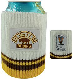 JF Sports Boston Bruins Vintage Knit Can Coolers - 6 Pack