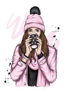 Beautiful Girl Drawing, Cute Girl Drawing, Cartoon Girl Drawing, Cartoon Art, Girl Drawing Pictures, Girl Cartoon Characters, Cartoon Girl Images, Cute Cartoon Girl, Girly Drawings
