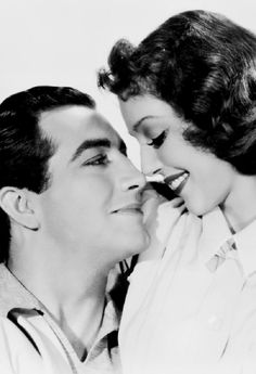 "Robert Taylor & Loretta Young, two gorgeous actors with dark dramatic looks, starred together in ""Private Number,"" 1936."