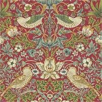 The Original Morris & Co - Arts and crafts, fabrics and wallpaper designs by William Morris & Company | Products | British/UK Fabrics and Wallpapers | Strawberry Thief (DARW212563) | Morris Archive Wallpapers II
