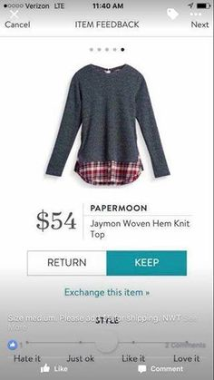 Stitch Fix stylist- I am loving these sweaters with the plaid sticking out!!!