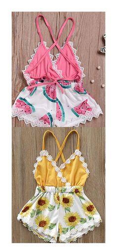 Infant Baby Girls Bodysuit Short-Sleeve Onesie Baby Otters Print Jumpsuit Spring Pajamas